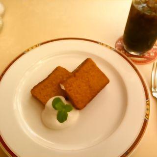 東京駅赤レンガパウンドケーキセット(日本食堂グランスタダイニング店)