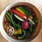 素揚げ野菜のっけ蕎麦(温)