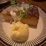 マロンのチーズケーキ バニラアイス添え(ディエチ (dieci))