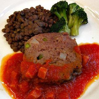 ミートローフとレンズ豆のプレゼ トマトソースランチ(ルヴェ ソン ヴェール 駒場 (Lever son Verre))