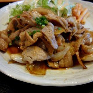 豚生姜焼き定食(浜町亭 茅場町店 (はまちょうてい))