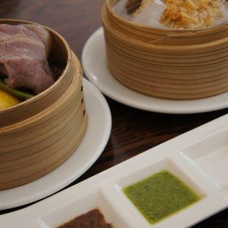 国産もち豚と旬の野菜のたっぷりバンブースチーマー(スープ・玄米・ドリンク付)(オリーブバール (Olive Bar))