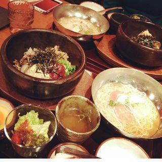 石焼きビビンバ ミニ冷麺セット(シジャン 四条河原町モザイクダイニング店 )