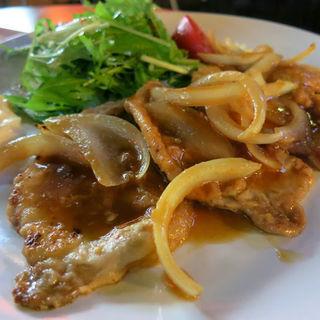 豚ロースの生姜焼き(バー 古時計 )