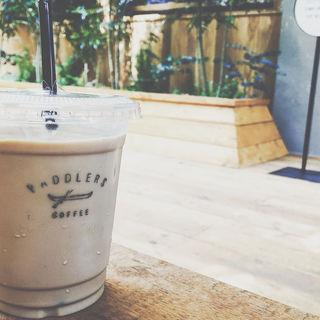 アイスカフェラテ(パドラーズコーヒー 西原本店 (PADDLERS COFFEE))