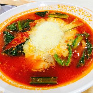 太陽のチーズラーメン(太陽のトマト麺西新井店)