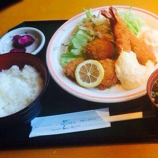 エビ・ホタテフライ定食(ギオン シグマ)