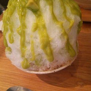 アボカドかき氷(なごかふぇ)