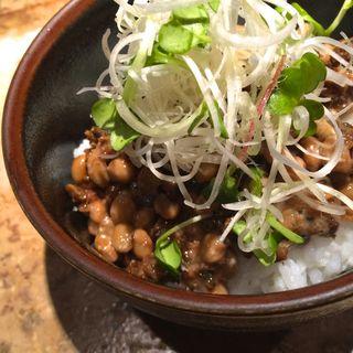 魚そぼろ納豆丼(ろばた 翔 )