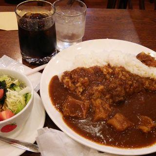 牛すじカレーセット(喫茶U (ユー))