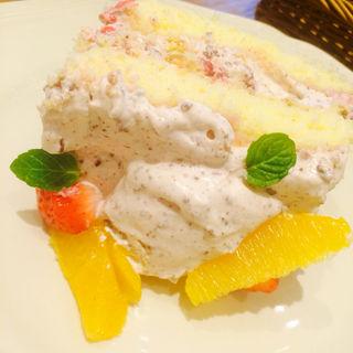 いちごとオレンジのズコットショートケーキ(アフタヌーンティー・ティールーム 川西阪急店 )