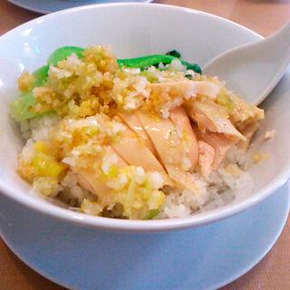 蒸し鶏ごはんセット(隆蓮)