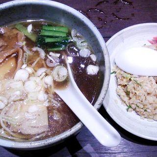 半チャンセット(しょうゆ)(らーめん つけ麺 かんじん堂 フコクフォレストスクエア店 )
