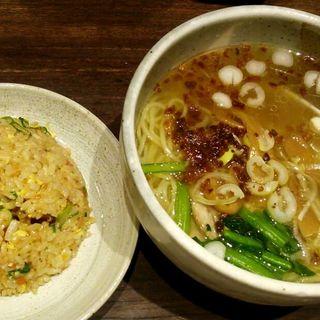 半チャンセット(塩)(らーめん つけ麺 かんじん堂 フコクフォレストスクエア店 )