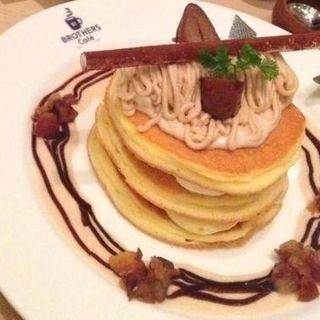 モンブランパンケーキ(ブラザーズカフェ なんば店 (BROTHERS Cafe))