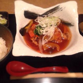 日替わりランチ 鶏唐揚げと野菜のあんかけ(いく昌 (いくまさ))