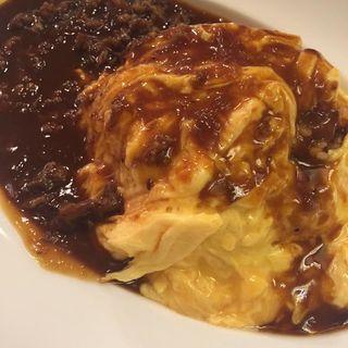 とろとろオムライス(おいしい卵料理OMS 札幌北広島店 (オイシイタマゴリョウリオムズ))