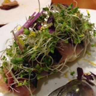 真鯖のマリネのスモーク メークインのポテトサラダ(ジュメルニジュウク (Jumelles 29))