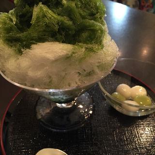 氷宇治(榮太樓總本鋪 喫茶室 雪月花 日本橋本店 (えいたろうそうほんぽ))