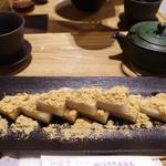 お茶付の元祖くず餅(船橋屋 コレド室町店)