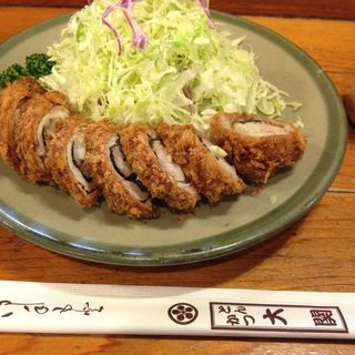 にんにく巻ロースかつ定食(とんかつ大関 (おおぜき))