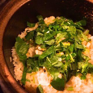 浅利と三つ葉の土鍋ご飯(馬場六区 (ババロック))