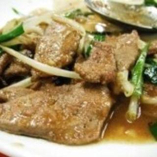 ニラレバ炒め(神龍飯店)