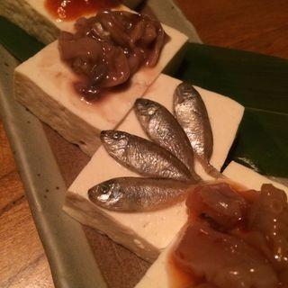 塩辛4種盛り(ニライカナイ立川 ぱなり (離れ))