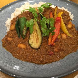 野菜たっぷりキーマカレー 十穀ご飯(MARFA CAFE (マーファ カフェ))