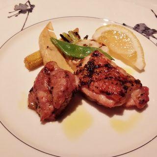 鶏モモ肉の香味焼き(プリフィクスディナーコース)(デュオ・フルシェット )