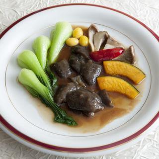 ネギとナマコ煮(孔子膳堂 (コウシゼンドウ))