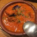 館山地ダコとナスのピリ辛トマト煮込み