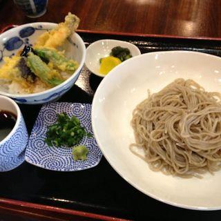 そば膳イ(ざるそば、ミニ天丼) (朝日屋 )
