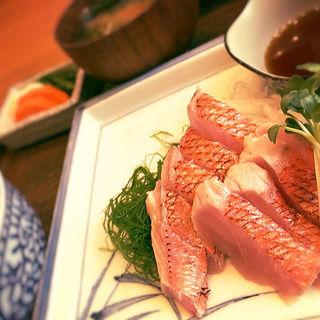 炙り金目鯛刺身ポン酢定食