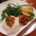 空心菜炒めランチ