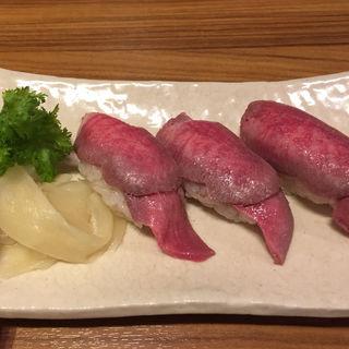 牛たん握り(牛たん炭焼き 利久 泉中央店 (ぎゅうたんすみやき りきゅう))