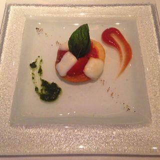 トマトのカプレーゼ(アンティカ・オステリア・デル・ポンテ )