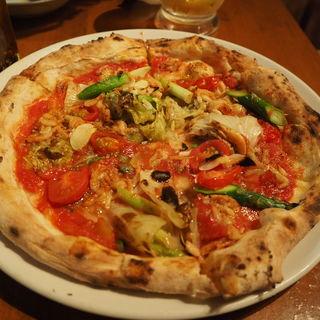 桜海老とアスパラのピッツァ(PizzaKingバンバール (ピッツァキングバンバール))