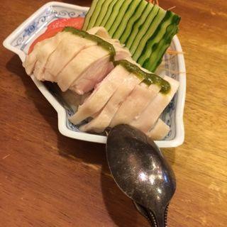 蒸し鶏の山椒ソースがけ(美齢 (メイリン))