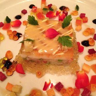 天使の海老とずわいがにのプレッセ 根セロリ風味(カフェ・ド・レレル (Cafe de Lairelle))