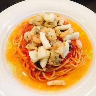 魚介とトマトと冷製スパゲッティ(リストランテ・スカレッタ)