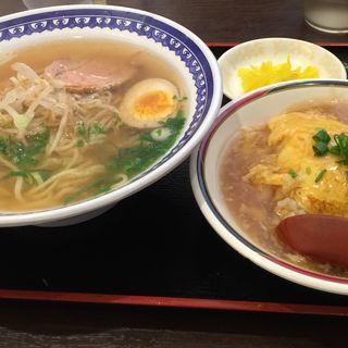 ミニ天津飯+ラーメンセット(三笠)