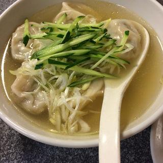 スープ水餃子(天鴻餃子房 飯田橋店 (テンコウギョウザボウ))
