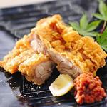 鶏の竜田揚げ もろ味噌添え