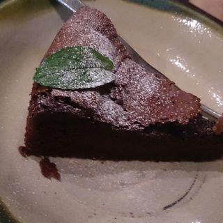 ガトーショコラ(手ぬぐいカフェ 一花屋)