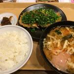ねぎ味噌焼き餃子定食