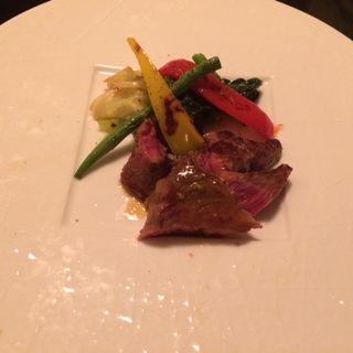 ニュージーランド産 みすじ肉のタリアータ(烏丸DUE (カラスマドゥーエ))