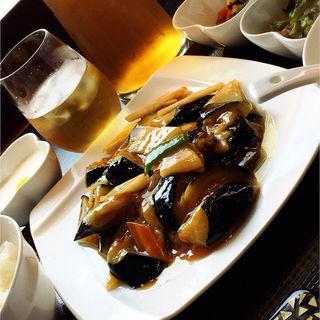 茄子と長芋の醤油炒め(御膳房 銀座店 (中国雲南料理、雲南キノコ火鍋専門店))