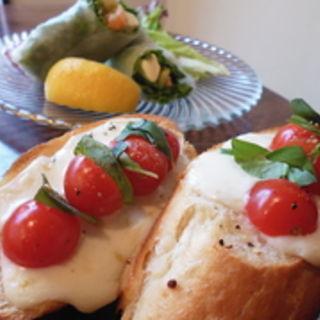 トマトとモッツァレラチーズのブルスケッタ(arbor's cafe)