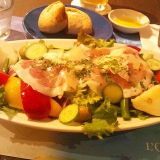 野菜マルシェの生ハムサラダ(ロクシタンカフェ 新宿店 (Cafe dOlivier))